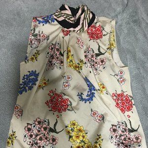 NY&Co Floral and Stripe Blouse M